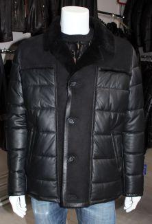 c6b95d9f5962 Зимняя мужская кожаная куртка из натуральной кожи 1062, р-р 56-64 ...