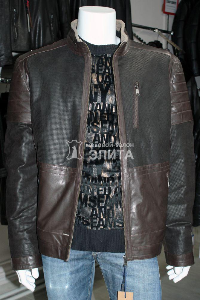 a941b5db7bc Зимняя мужская кожаная куртка из натуральной кожи 1159 р-р 56-60 ...