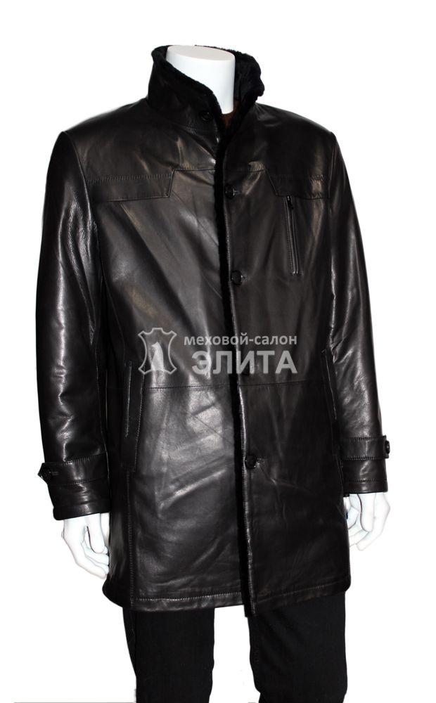 e0843c2a98c Зимнее мужское кожаное пальто на овчине 7950 р-р 52-58