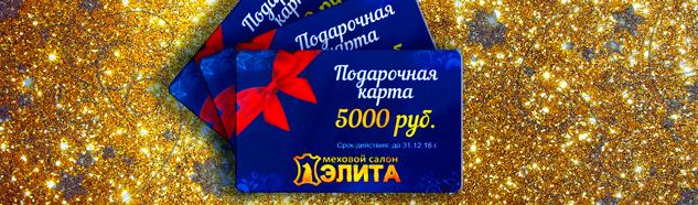 Акция - Дарим карты на 5000 рублей ВСЁ лето в Меховом салоне ЭЛИТА с 01.06 по 31.08.2017 года